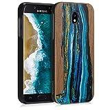 kwmobile Samsung Galaxy J5 (2017) DUOS Hülle - Handy Schutzhülle aus Holz - Cover Case Handyhülle für Samsung Galaxy J5 (2017) DUOS