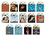 14 Stck. CD Leerhüllen DVD Leer Hüllen Blueray Motiv Designhüllen aus Karton / Pappe - ohne CDs!