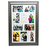 Hampton Frames Erica Legno Bianco di Alta qualità Dieci 4x6in A6 10x15cm Foto Cornice. Parete Multi Aperture splendidamente Realizzato Appeso Solo ERI10APGY