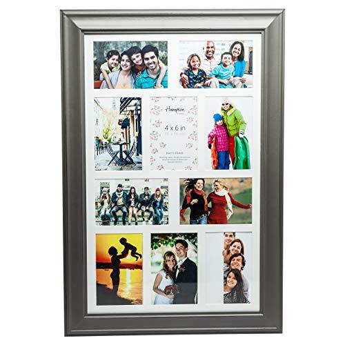 Hampton Frames Erica hochwertige weiße Holz zehn 4x6in A6 (10x15cm) Foto Bild Display Rahmen. Schön gearbeitet Multi Blende Wandbehang nur ERI10APGY -