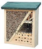 Dobar 22699FSC Insetto Hotel con Tetto Verde, tondeggiante per api in Giardino, 19x 7.5x 22cm