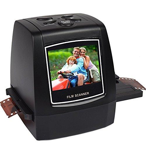 Film-Scanner, Filmnegative und Foto konvertieren gleitet in digitale Dateien JPG | 14 Megapixel (22MP Max) Scanner für 35mm Film Dias und negative, 110 Film, 126 Film 135 Film - enthält jetzt kostenlos 8GB Speicherkarte! (14 Mega-Film-Scanner-FS611C)