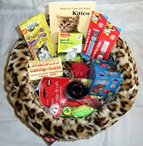 Kitten Luxury Bed Starter Kit With Litter Tray Set from FabKnits