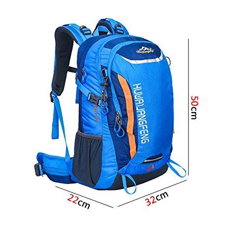 40L Outdoor Sports Professionelle Mountaineering Tasche Männer und Frauen große Kapazitäts-Stent-Rucksack-Spielraum-Rucksack Orange
