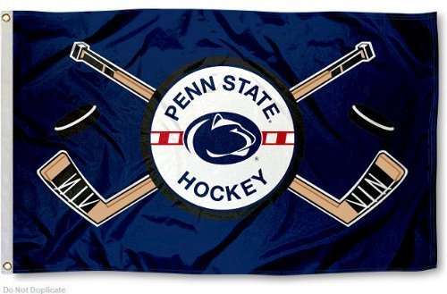 PSU Hockey Flag Large 3x5 by College Flags and Banners Co. -