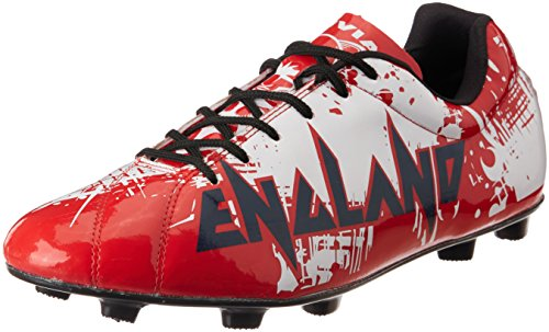 Nivia Destroyer England Football Shoes, UK 11 (Red)