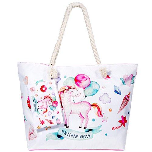 Damen Taschen Schultertaschen Umhängetaschen Handtaschen für Frauen Tote Hobo Taschen Damen Henkeltaschen Groß - Unicorn World ()
