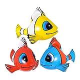 Aufblasbarer Fisch Deko Clownfisch Südsee Party Dekoration Nemo Hawaii Partydeko Meer Fische Strandparty Sommer Beach Eventdeko Zubehör Mottoparty Accessoire Aufblasbare Artikel Raumdeko