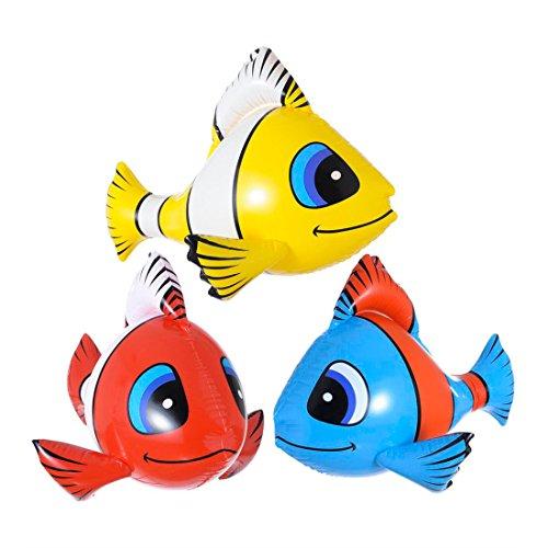 eko Clownfisch Südsee Party Dekoration Nemo Hawaii Partydeko Meer Fische Strandparty Sommer Beach Eventdeko Zubehör Mottoparty Accessoire Aufblasbare Artikel Raumdeko (Sommer Beach Party Dekorationen)