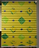 Plissee Faltstores 50x70 (BxH) gelb gemustert Sonderposten
