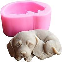 Moules en silicone 3D en forme de chien pour bougies, savons, chocolats, gâteaux, fondants, décoration de gâteaux