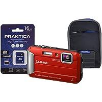 Panasonic DMC-FT30 Compact System Camera - Red (16 GB SDHC Class 10 Card, 4x Optical Zoom)