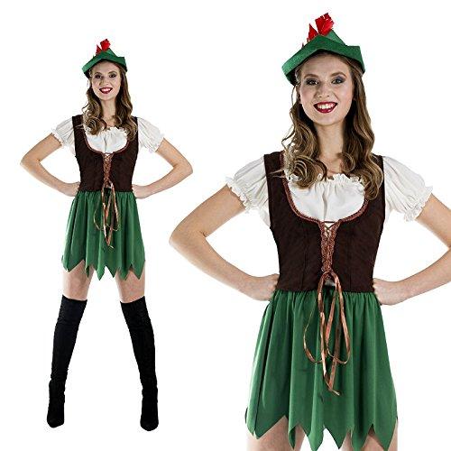 (Monster Lady Robin Hood Kostüm Größe L Damen 50125 Karneval)