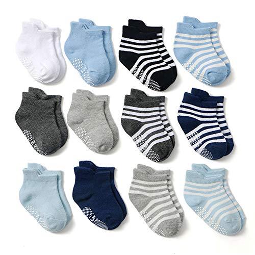 Z-Chen Calcetines Antideslizantes Bebé Niños Pack