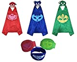 PJ Masks Costumes for Kids Catboy Owlette Gekko Mask Cape Bracelet