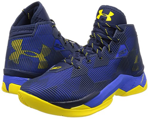 Scarpe da basket uomo Under Armour UA Curry 2.5, art. 1274425400, colore blu giallo giallo
