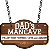 YaYa cafe Dads Mancave Wall Door Hanging