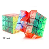 Wings of Wind - Cubo de la velocidad 3x3x3, speed cubo mágico de los cubos mágicos del cubo sin etiqueta del rompecabezas del cubo (Transparente)