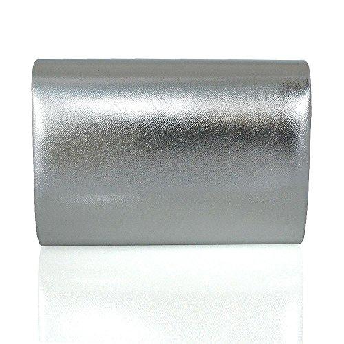 ESSEX GLAM - Borsa a secchiello da sera donna Silver Metallic
