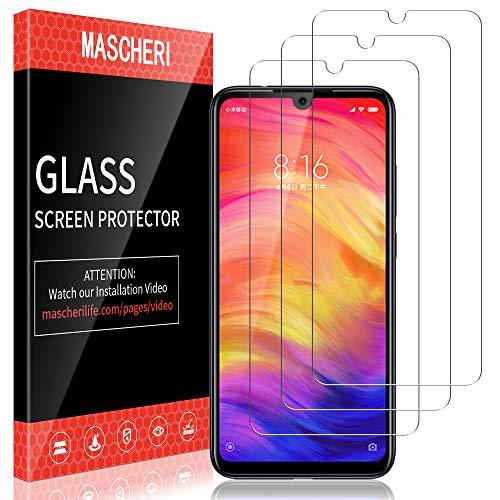 MASCHERI Schutzfolie Für Xiaomi Redmi Note 7 / Note 7 Pro Panzerglas,[3 Stück] Bildschirmschutzfolie Bildschirmschutz Glas Folie Für Redmi Note 7 / Note 7 Pro - klar