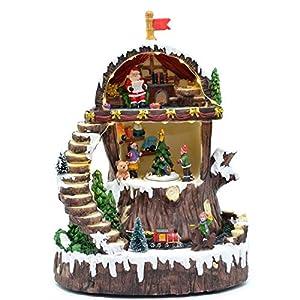 Gifts 4 All Occasions Limited SHATCHI-840 - Juego de decoración navideña para el hogar con luces LED