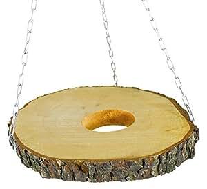 Elmato 10488 Air Plate Naturale Disque de tronc d'arbre en bois naturel
