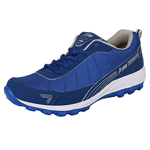 Aero Power Play Men Running Sport Shoes (Rblue, Grey)  available at amazon for Rs.499