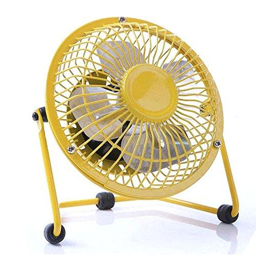 haodou USB ventilatore piccolo ventilatore da tavolo silenzioso ventilatore per estate ufficio casa gialla