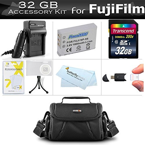 32GB Accessories Kit For Fuji Fujifilm X70 X30 X100 X100S X100T Digital Camera Includes 32GB High Speed SD Memory Card + Extended Replacement (1800maH) For Fuji NP-95 Battery + Charger + Case + More  available at amazon for Rs.7036