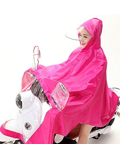 PENGFEI Wasserdichter Regenmantel Wasserdicht Reiten RegenponchoElektro Auto Motorrad Big Hat Eaves Poncho Männer Und Frauen Erwachsene Winddicht atmungsaktiv ( Farbe : 2# , größe : XXXL ) 1#