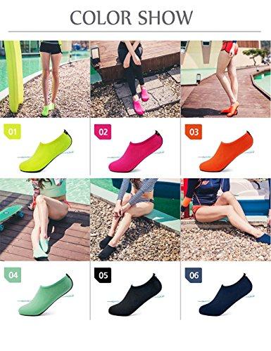 BIG OCEAN Wasser Schuhe für Frauen Männer Erwachsene Kinder Barfuß Laufen Aqua Socken Schnell-Trocken für Schwimmen Surfen Strand Gehen Garten Bootfahren 2.ROT