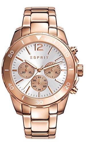 Esprit Damen-Armbanduhr Haylee Chronograph Quarz Edelstahl beschichtet