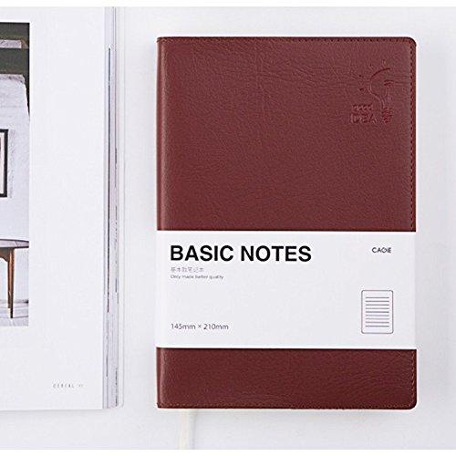 Simple carnet de couverture en cuir PU 176 pages journal journal livre créatif cadeau