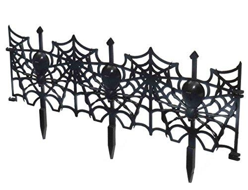 Gothic Spider Web Zaun Rasen Dekoration, Schwarz (Fechten Kostüm Schwarz)