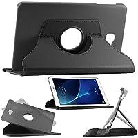 ebestStar - pour Samsung Galaxy Tab A 2016 10.1 T580 T585 (A6) - Housse Coque Etui PU cuir Support rotatif 360°, Couleur Noir [Dimensions PRECISES de votre appareil : 254,2 x 155,3 x 8,2 mm, écran 10.1'']