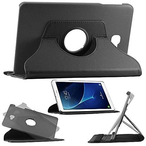 ebestStar - pour Samsung Galaxy Tab A 2016 10.1 T580 T585 (A6) - Housse Coque Etui PU cuir Support rotatif 360°, Couleur Noir [Dimensions PRECISES de votre appareil : 254,2 x 155,3 x 8,2 mm, écran