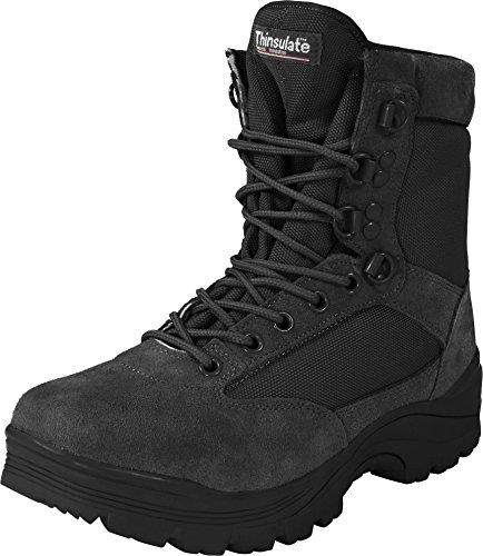 Herren Tactical Boots mit Thinsulate® Fütterung und Reißverschluss Schwarz