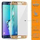 Galaxy S6 Edge+ Plus Protection écran, ZanastaDesigns Verre Trempé Protecteur Tempered Glass Screen Protector pour Samsung Galaxy S6+ Edge Plus 5.7' [Curved 3D] [or] en forme de dôme