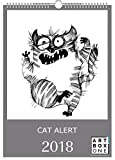 artboxONE Kalender 2018 Cat Alert Wandkalender A3 Tiere, Kindermotive