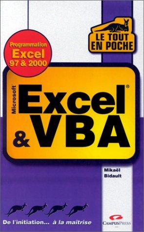 Excel et VBA : Versions 97 & 2000 (Le tout en poche)