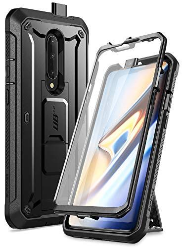 SUPCASE Coque OnePlus 7 Pro, Coque Intégrale de Protection Robuste Anti-Choc avec Protecteur d'écran Intégré et Béquille [Unicorn Beetle Pro] pour OnePlus 7 Pro (Noir)
