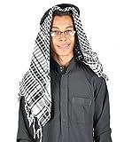 Jeque árabe tradicional sombrero - árabes pañuelo - disfraz de carnaval/color: negro-blanco