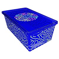 QUTU Light Box Storage Box - Blue, H 19 cm x W 11.5 cm x D 33.5 cm