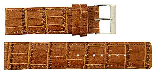 Moog Paris Braun Kalbsleder Uhrenarmband, Dornschließe, 20mm Ersatzband _ B20005