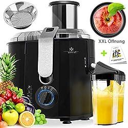 KESSER - Centrifugeuse en Inox Fruits et légumes 1100W, Extracteur de jus, Capacité 1L, Ouverture 85mm