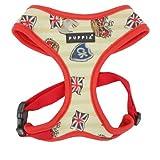 Puppia PAOA-AC1220 Hundegeschirr Britannia, S, rot
