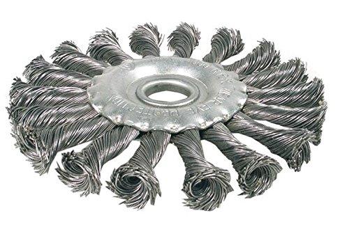 BGS 3986 Brosse plate/brosse ronde tressée, Gris/argent