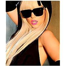 Parrucche europei moda capelli parrucca lady gaga lungo straigt moda bionda  donne parrucche 8ce27126576e