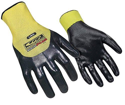 Ringers Handschuhe 023–10Nitril Plus 3/4-dip Handschuh, Gelb, Groß von Ringers (Große Ringer)