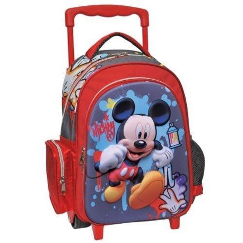 Trolley Asilo e per Tempo Libero con Carrello a 2 Ruote Disney Mickey Mouse
